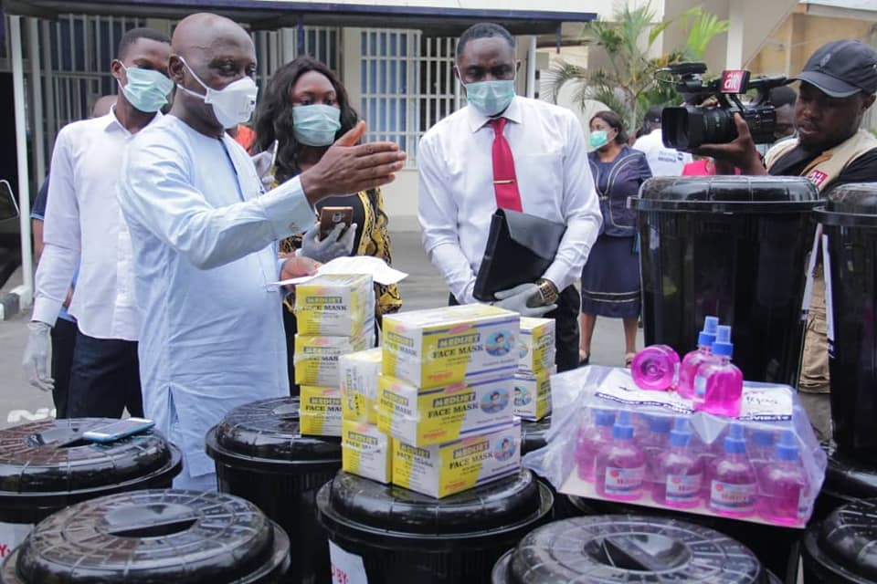 AJU ARDonates Covid-19 Prevention Items to Cross River State Ministry of Health